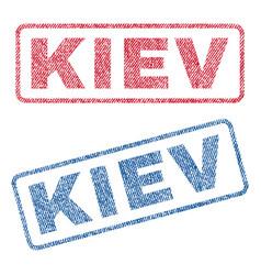 Kiev textile stamps vector