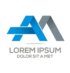 Logo am lettermark abstract business vector