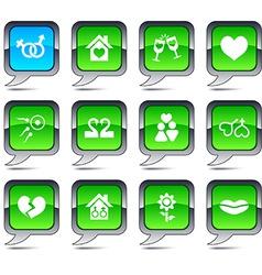 Love balloon icons vector