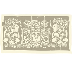 Mayan carvings vector
