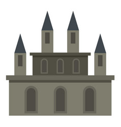 Medieval castle icon isolated vector