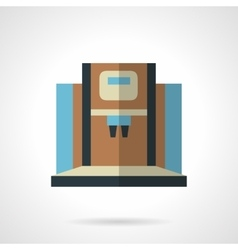 Modern coffee machine flat color icon vector image vector image