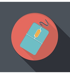 paper flat icon with a shadow computer mouse vector image