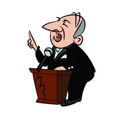 politician cartoon vector image vector image