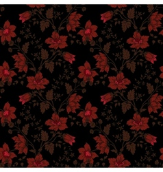 Retro floral seamless background vector image