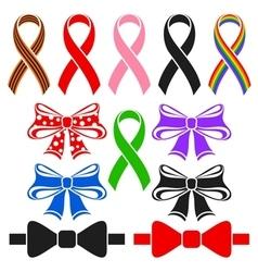 Ribbons and bows vector