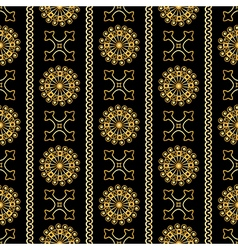 seamless gold vintage ornamental pattern vector image