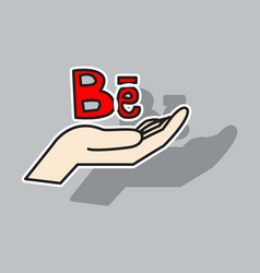 sticker unusual look web icon of modern social vector image vector image