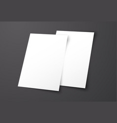 Templates of two white flyers on a black vector