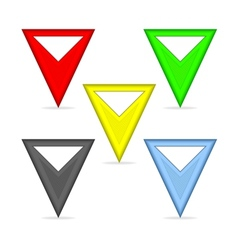 Triangular pointers vector image vector image