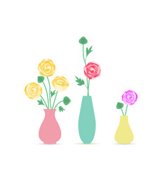 Vase of flowers vector
