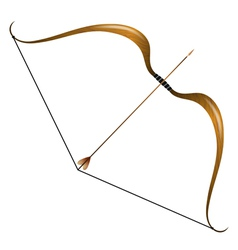 Vintage bow and arrow vector