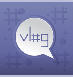 Vlog trending post concept vector