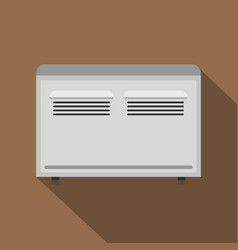 White heating con icon flat style vector