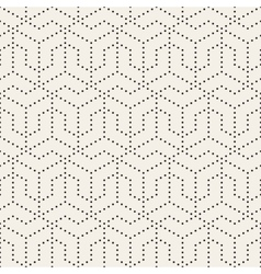 Seamless black and white dotted lines grid vector