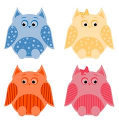 owls2 vector image