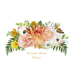 flower airy loose wreath bouquet of pink garden vector image