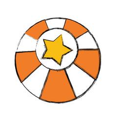 Circus ball isolated vector