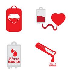 Blood donation set vector