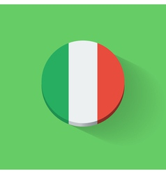 Round icon with flag of italy vector