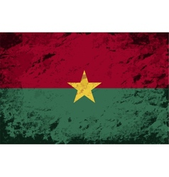 Burkina faso flag grunge background vector