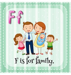 Flashcard letter f is for family vector