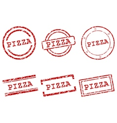 Pizza stamps vector image