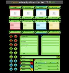 creative web design green vector image