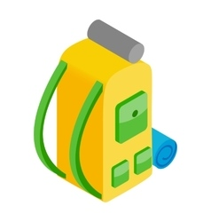 Backpack isometric 3d icon vector