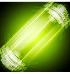 Abstract bright green technology background vector