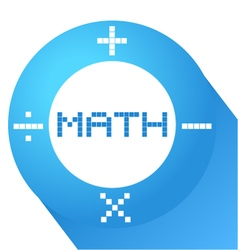 Blue math symbol vector