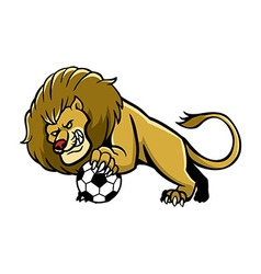 Lion Soccer Mascot vector image