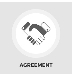 Agreement flat icon vector
