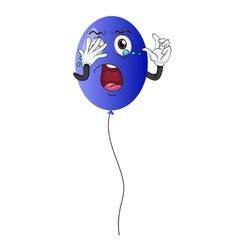 a blue balloon vector image vector image