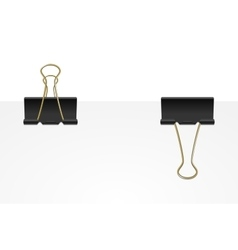 Binder clips vector