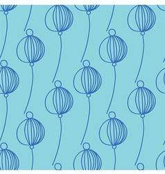 blue decoration floral pattern vector image vector image