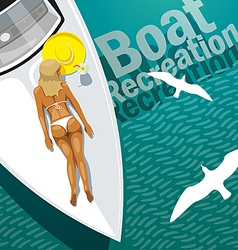 Boat Recreation vector image vector image