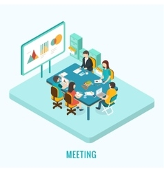 Business meeting and brainstorming vector image vector image
