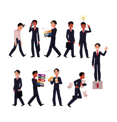 Businessman in business situations corporate vector