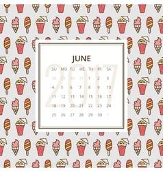 Calendar 2017 year vector