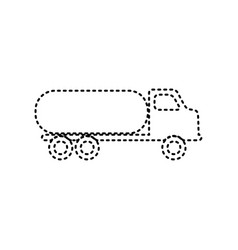 Car transports sign black dashed icon on vector