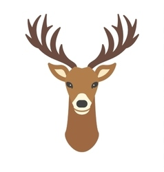 Deer head cartoon Royalty Free Vector Image  VectorStock