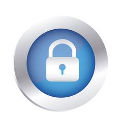 color circular emblem with padlock icon vector image vector image