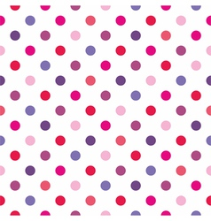 Colorful red polka dots seamless background vector image vector image