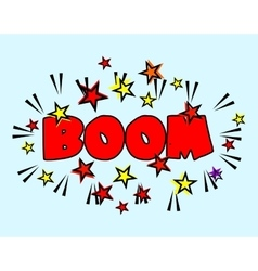 Comic book cartoon - boom explosion splash with vector