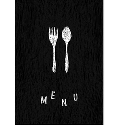 creative menu template vector image