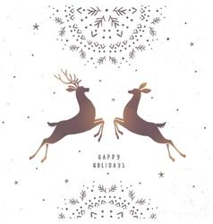 Deer amazing silhouette vector