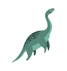 Elasmosaurus aquatic dinosaur of jurassic period vector