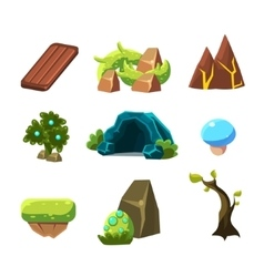 Flash Game Level Design Collection Of Elements vector image