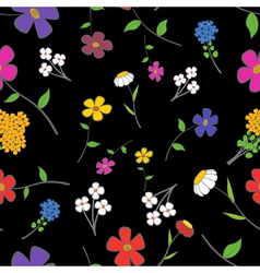 Floral on a black Seamless vector image vector image